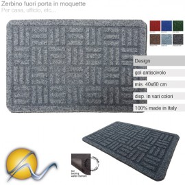 Zerbino in moquette made in Italy Design